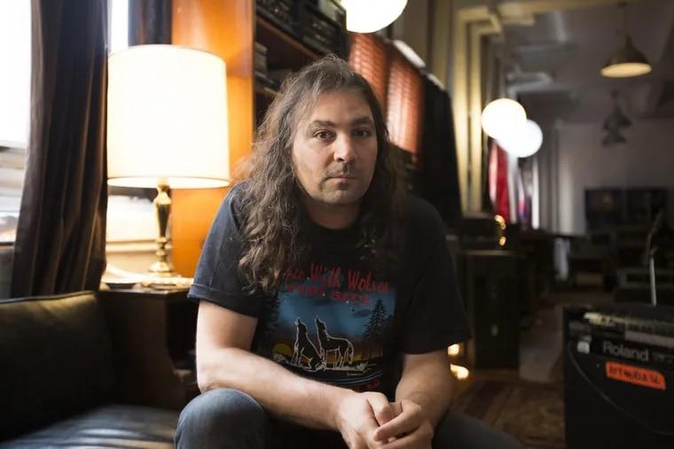 Adam Granduciel sits in his South Philadelphia studio. The War on Drugs will headline the Xponential Festival next summer.