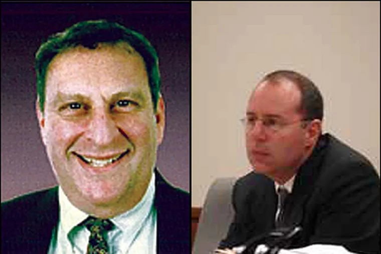The death of David Garfield (left) presents a stalemate for the Camden County Prosecutor's Office. 'We can't prosecute a dead guy,' says Assistant Prosecutor Mark Chase (right).