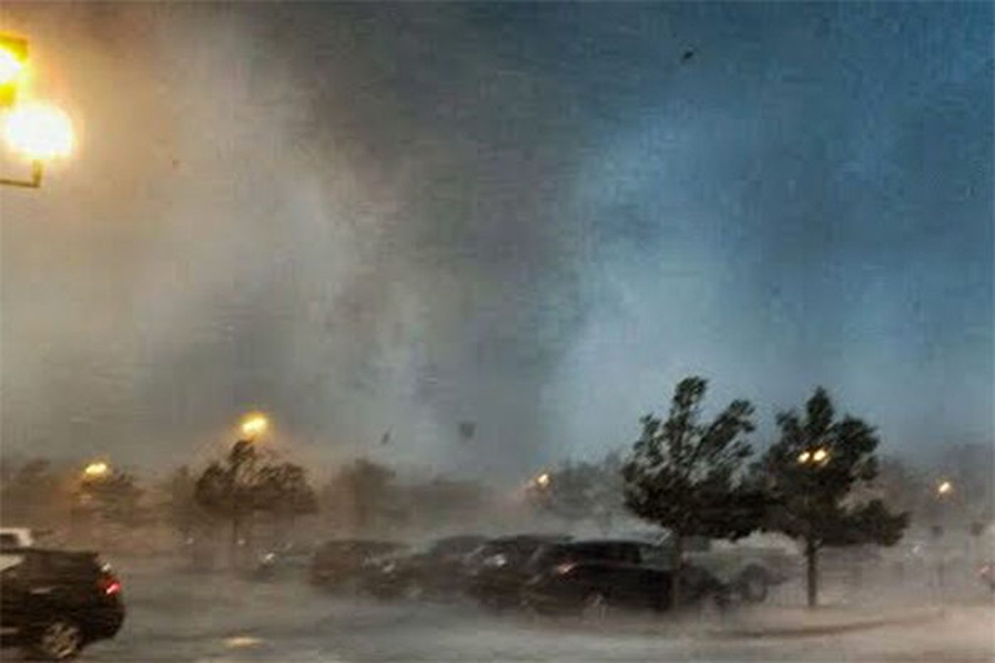 Watch: Confirmed tornado rips through Home Depot parking lot in New Jersey
