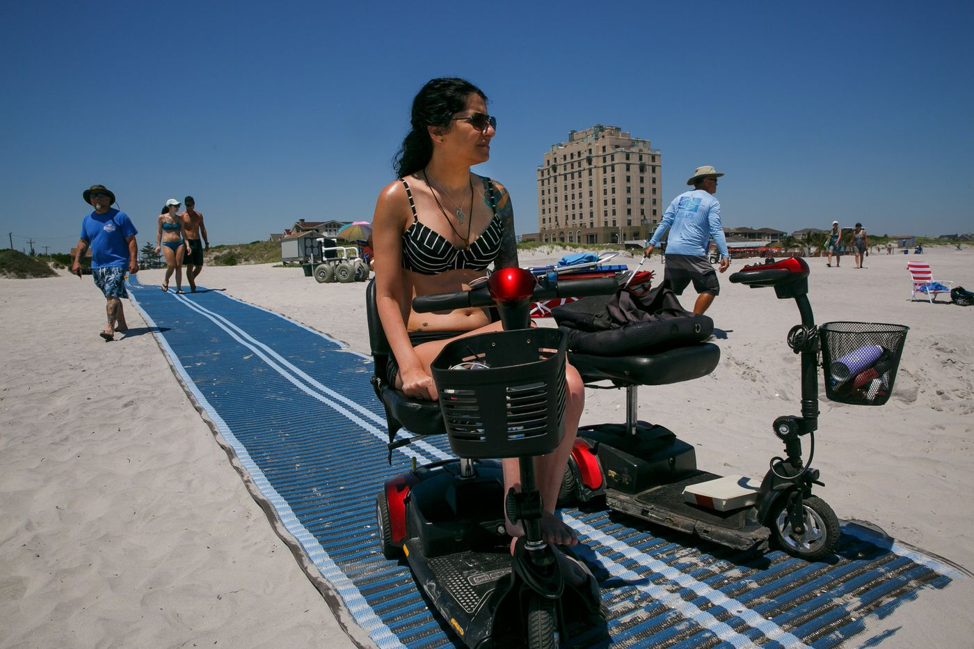 Getting her wheelchair on the beach was a struggle. Brigantine just made it easier