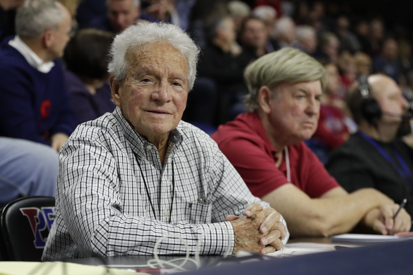 Half a century later, Jack Scheuer, the Palestra's all-time leading scorer finds his place courtside   Mike Jensen