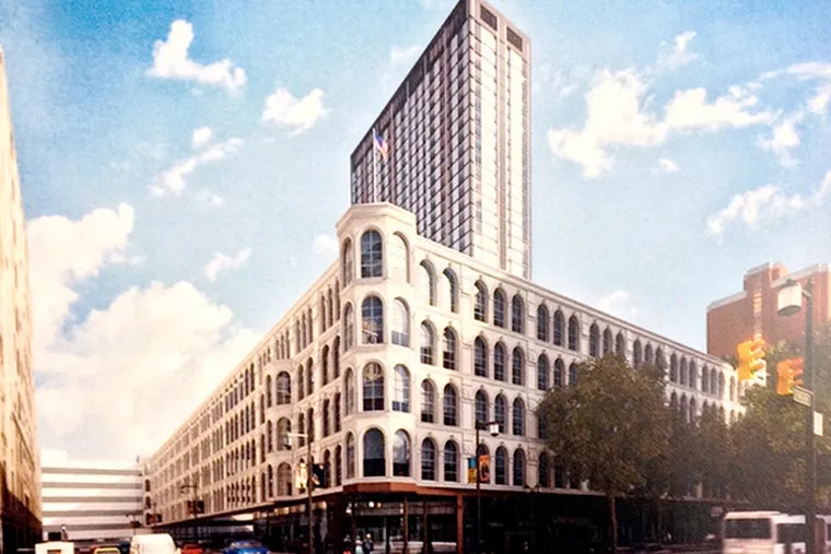 An artist's rendering of the proposed Mellon Independence Center Tower by Stantec Architecture, courtesy of the Philadelphia Historical Commission.