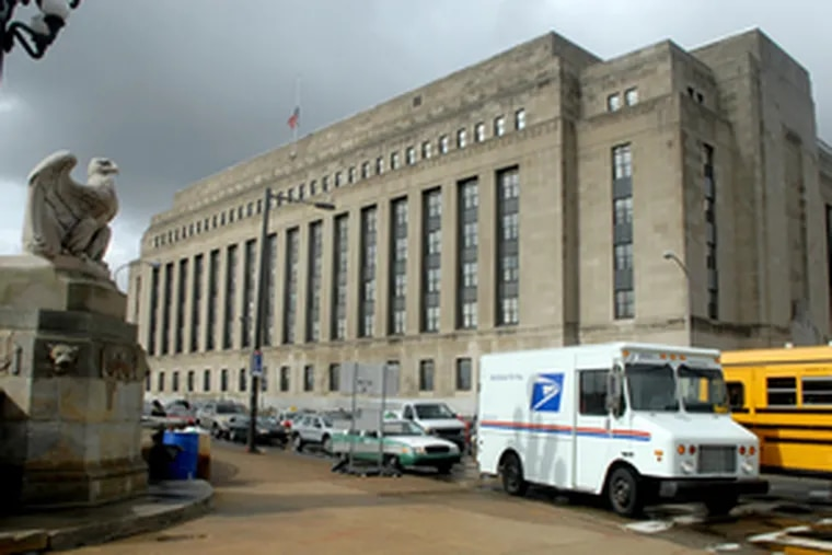 The 30th Street Post Office, looking west from Market Street. Developers and officials say the$50.6 million soon-to-close Penn deal is aboveboard.