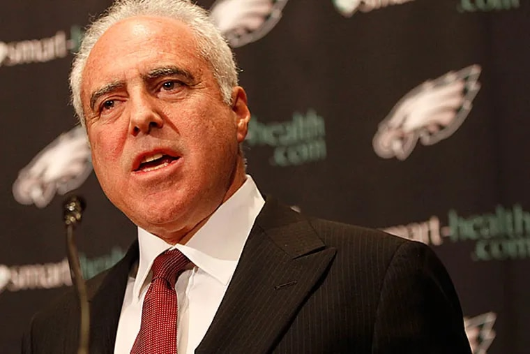 Jeffrey Lurie, owner of the Philadelphia Eagles announces the firing of head coach Andy Reid.