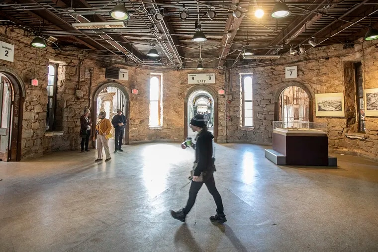 Justice Votes is holding a presidential forum on Oct. 28 2019 at Eastern State Penitentiary in the space that is called the Central Rotunda, where visitors to the prison walk through to get to various spokes of the prison during the prison tour, on Oct. 24, 2019.