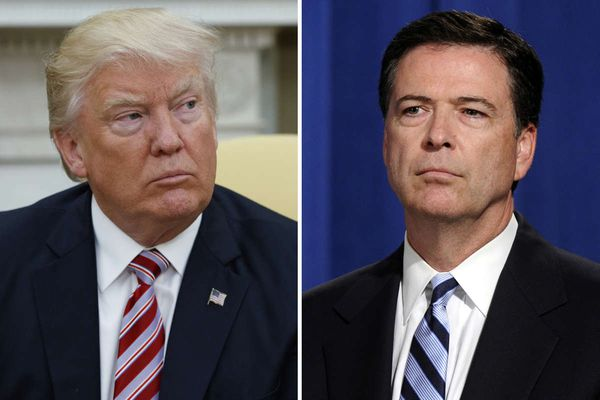 James Comey tweets about freedom of the press – minutes after Trump attacked CNN