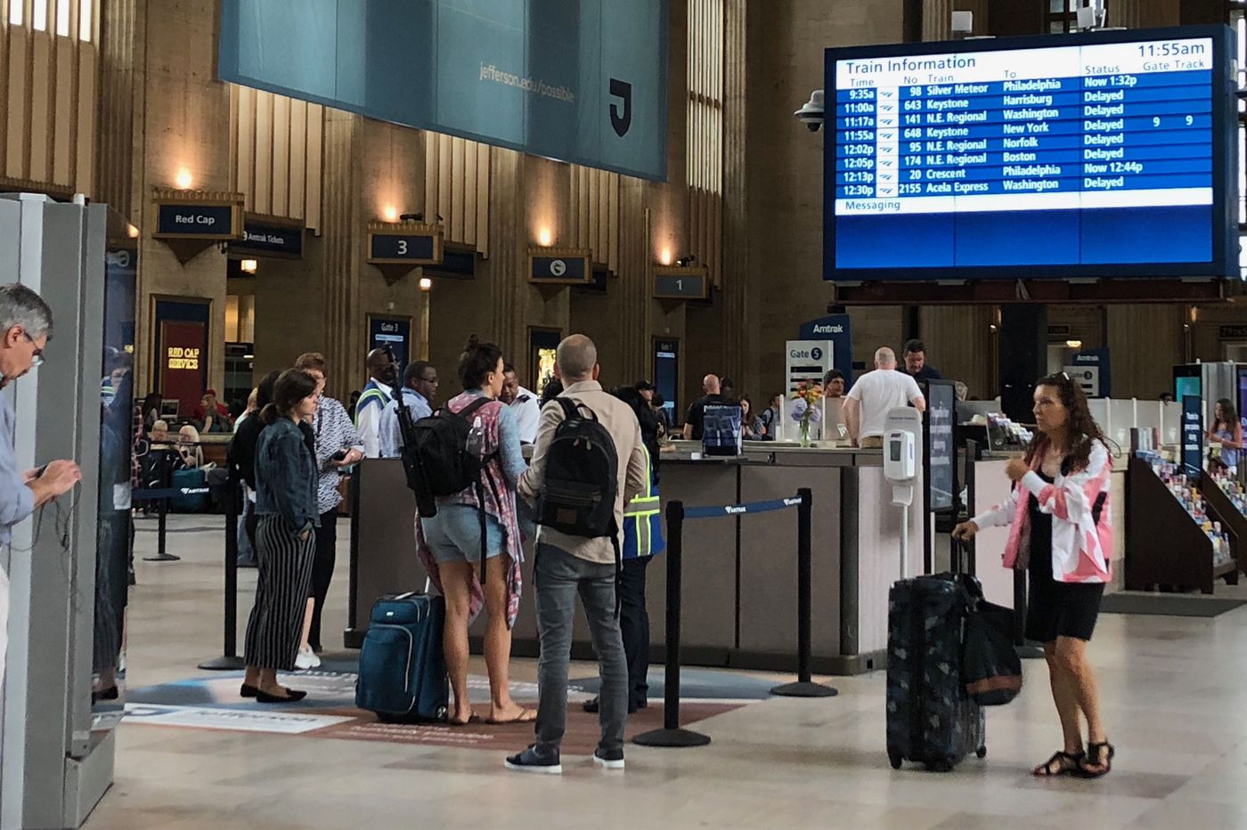 SEPTA, NJ Transit, and Amtrak trains running again after power problems