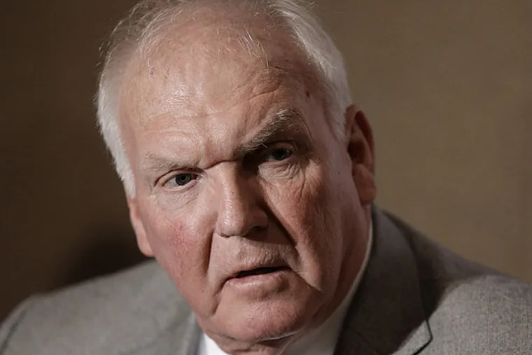 Philadelphia Phillies manager Charlie Manuel answers questions during a news conference at the baseball winter meetings on Wednesday, Dec. 5, 2012, in Nashville, Tenn. (AP Photo/Mark Humphrey)
