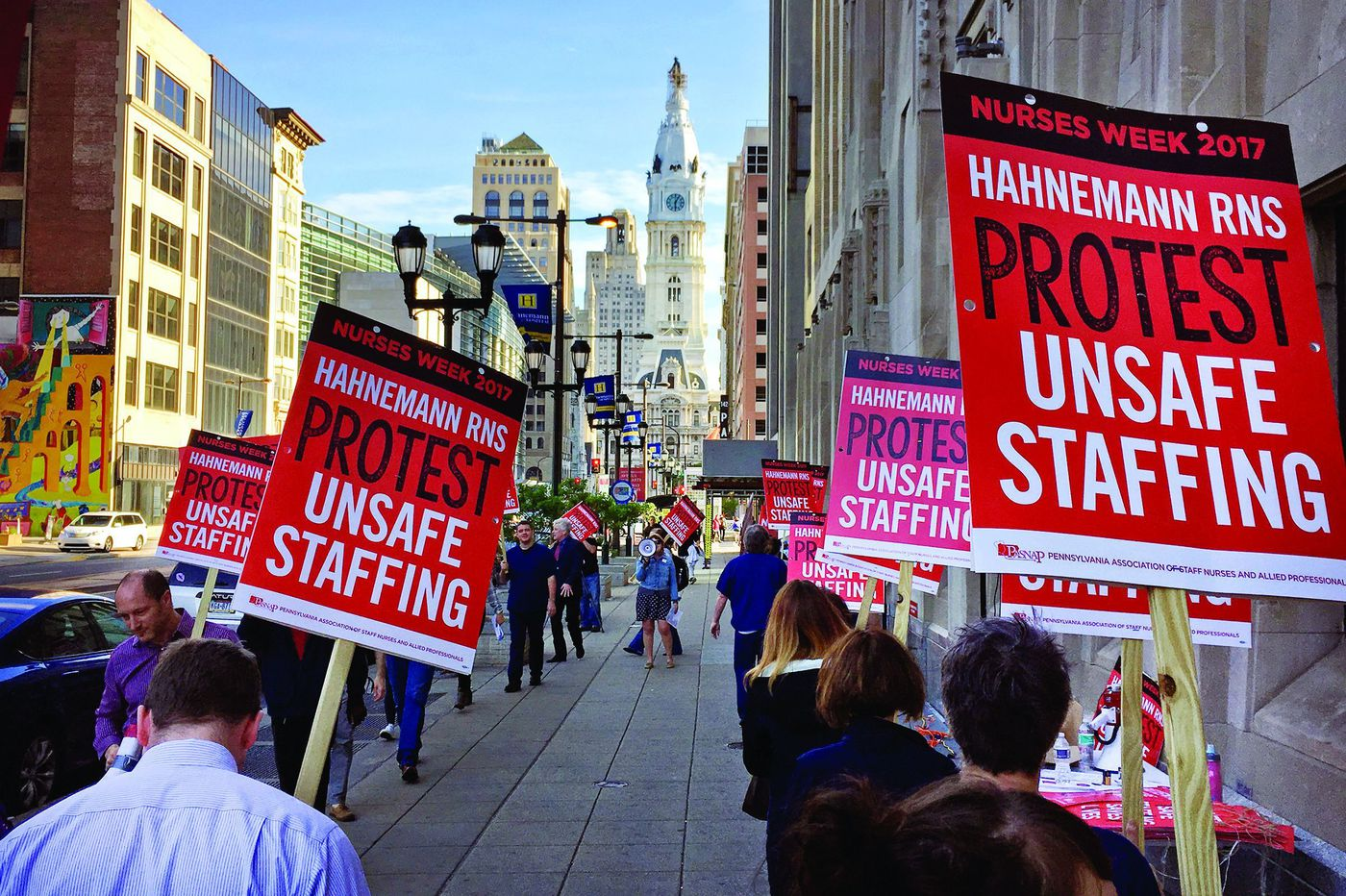 A brutal summer for Philly hospital workers is driving nurses to fight for 'successorship'