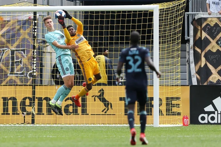 """Union manager Jim Curtin announced Wednesday that Andre Blake has """"a little tear"""" in his groin, and there is no set timetable on the recovery."""