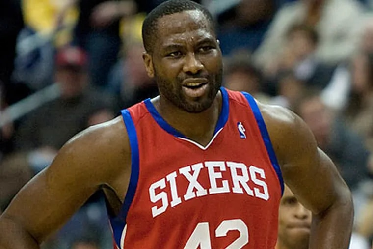 """""""Certain guys have a longer leash than others, so they played longer and the mistakes were shown,"""" Elton Brand said after the 76ers' loss Tuesday night. (Evan Vucci/AP)"""