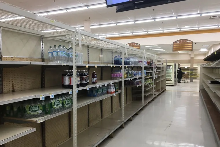 The soda aisle at the Haverford Avenue ShopRite was nearly empty Wednesday, as the store prepared to close. Owner Jeff Brown blames the city's tax on soda and other sweetened beverages for sales losses that made the store unprofitable.