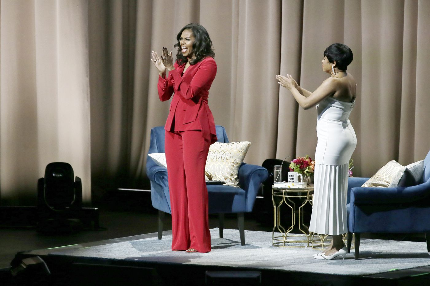 5 things I learned from Michelle Obama's Wells Fargo Center tour stop   Elizabeth Wellington