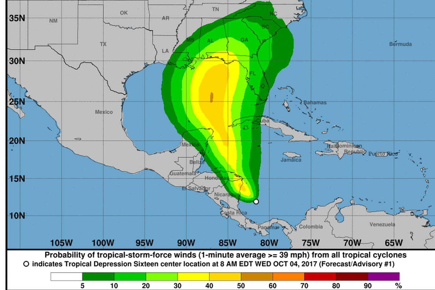Nate next? Yet another potential tropical-storm threat for Gulf Coast