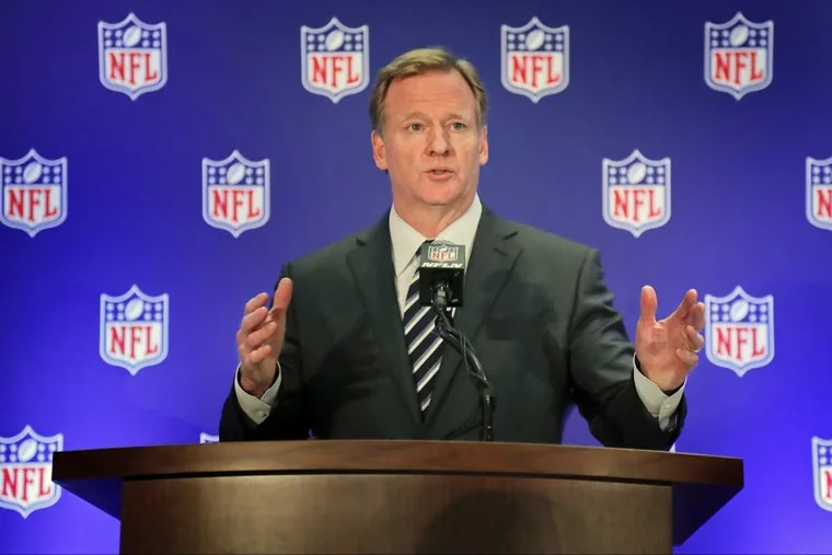"""NFL commish Roger Goodell is negotiating a new contract. Can't he make in-stadium Super Bowl """"watch parties"""" part of his demands?"""