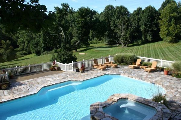 Chester County estates with hot tubs to warm up a fall night