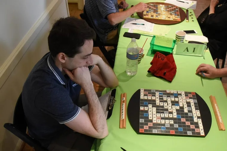Will Anderson, the U.S. National Scrabble Champ, ponders his next move.