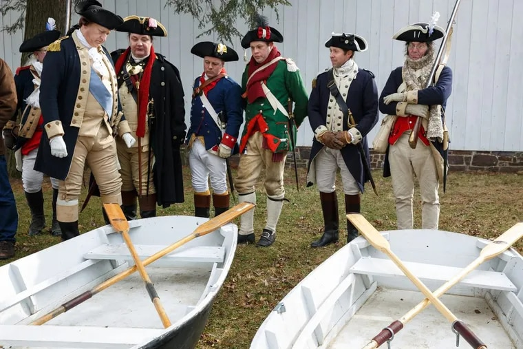 Revolutionary War reenactors had hoped to use rowboats built by Philadelphia public school students for this year's annual crossing of the Delaware.