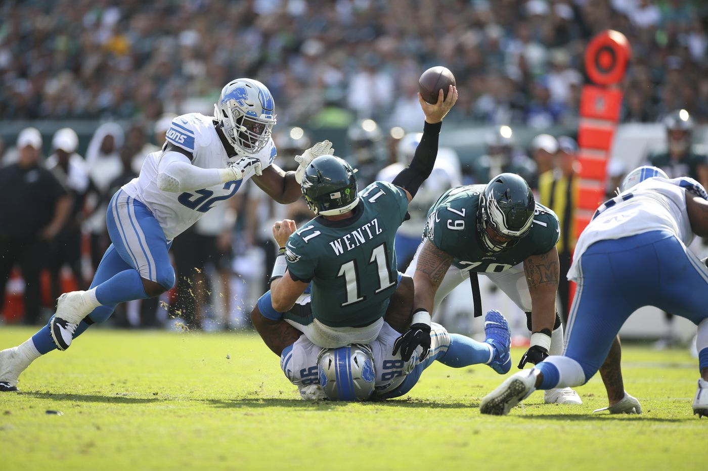Eagles still could have beaten the Lions on final throw, but victory again slipped through their hands
