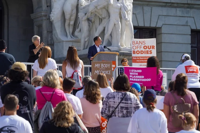 Pennsylvania Attorney General Josh Shapiro, widely expected to run for governor next year, spoke last weekend outside the State Capitol at the Bans Off Our Bodies rally in Harrisburg. He's among several Democratic candidates who have spoken out against Texas' new abortion ban.