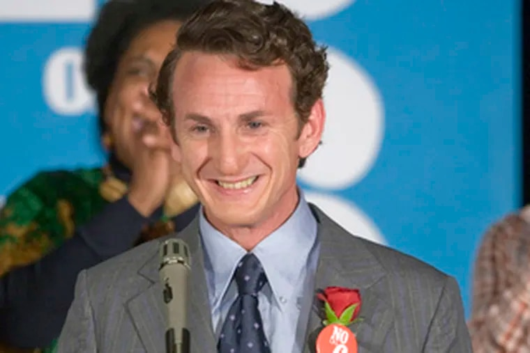 """Sean Penn was named best actor and """"Milk"""" best film by the New York Film Critics Circle."""