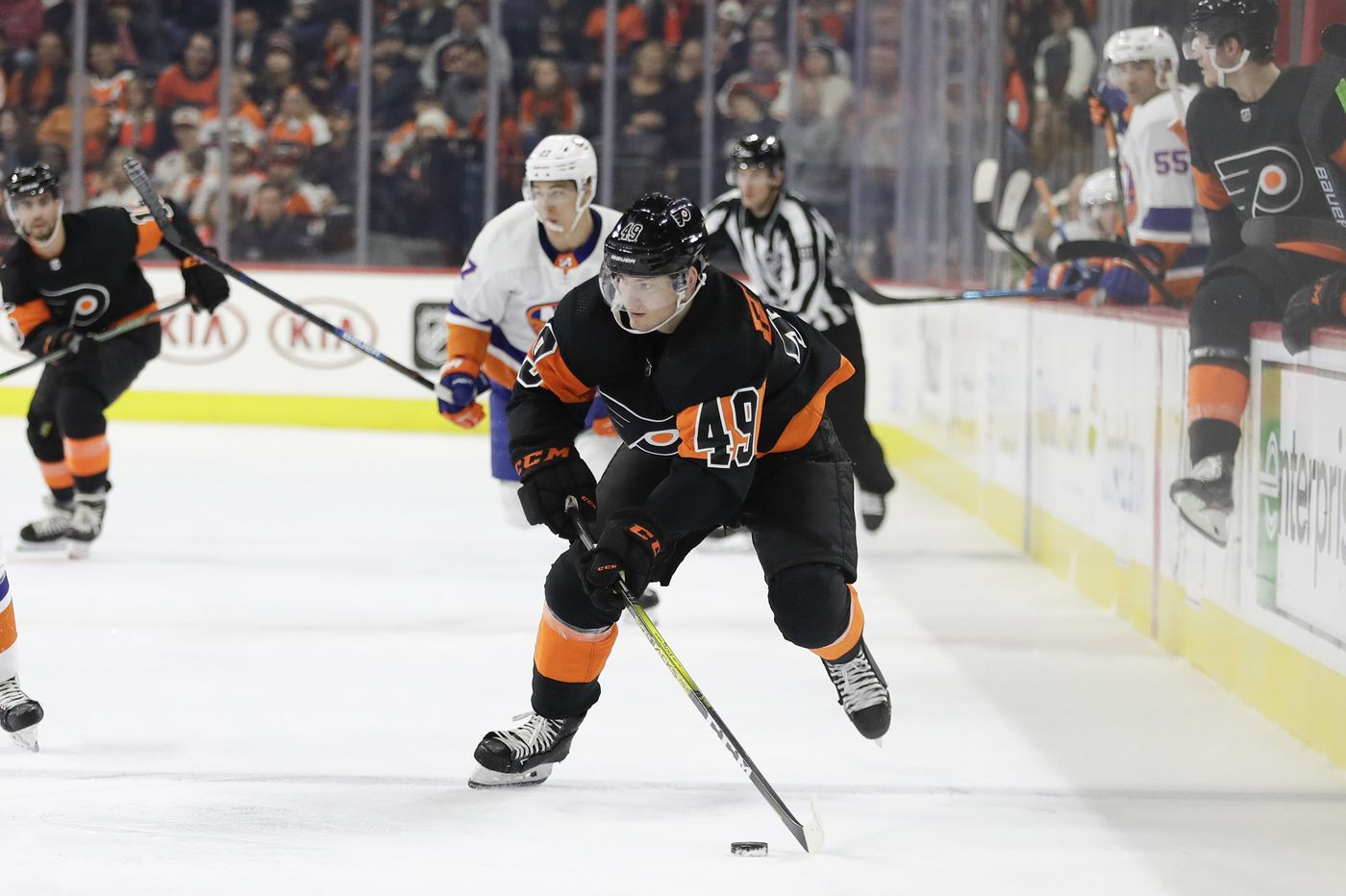 Can Flyers' young players, including Joel Farabee, take a step forward in season's second half? | Sam Carchidi