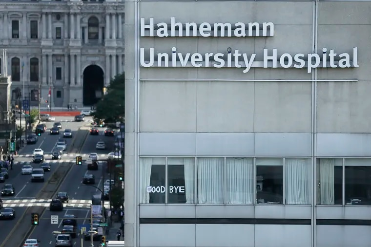 Messages have appeared in some of the windows at Hahnemann University Hospital on July 25, 2019. According to 6ABC the messages were left by medical residents and staff of the hospital after they were informed, on Wednesday, that their residencies would end soon and that they were now released from the hospital.