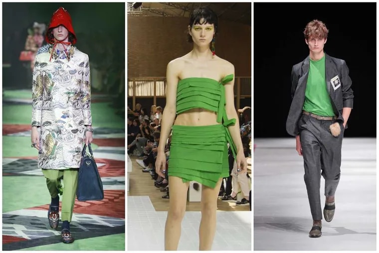 From left to right: from the runways of Gucci, Kenzo, and Robert Geller.