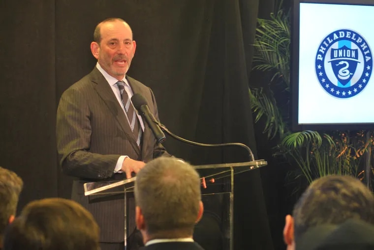 Major League Soccer commissioner Don Garber was a guest of honor at the Union's ceremony unveiling Subaru Park as the new name of their stadium.