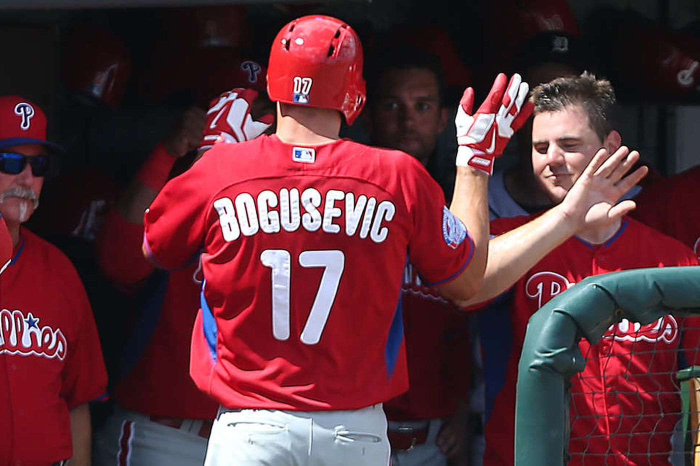 Phillies' Bogusevic makes most of unexpected start, smacks two homers