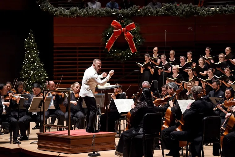 """Yannick Nezet-Seguin conducts Handel's """"Messiah"""" with the Philadelphia Orchestra and the Westminster Symphonic Choir."""