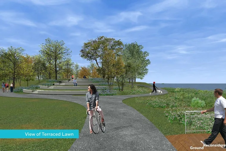 Conceptual rendering of a 10-acre park planned in Philadelphia's Bridesburg section by Riverfront North Partnership and Philadelphia Parks and Recreation.