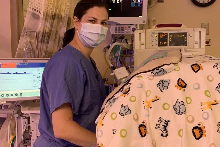 Rachel Fleishman, a neonatologist with Albert Einstein Medical Center in Philadelphia, at work.