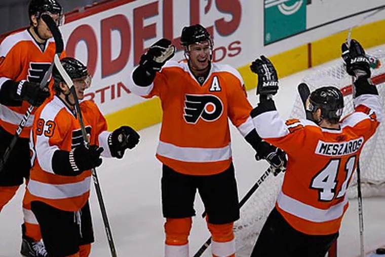 The Flyers will leave town Sunday for Vancouver and the start of a long road trip. (Ron Cortes/Staff file photo)