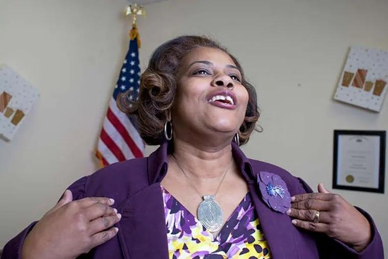 State Representative Margo Davidson in her Upper Darby officein 2010. (Ed Hille / staff photographer)