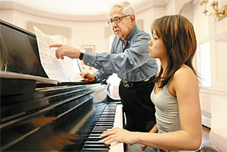 Gary Graffman, here with star Curtis student Yuja Wang, has developed the school's contacts in China.