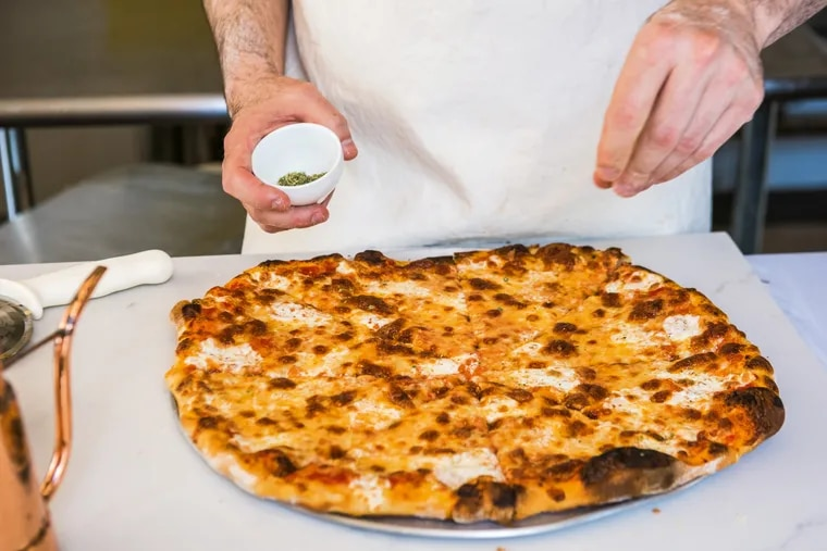 Making pizza with Joe Beddia.