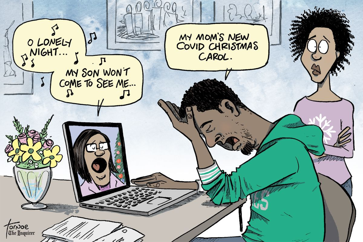Cartoon Canceling Christmas Because Of Covid