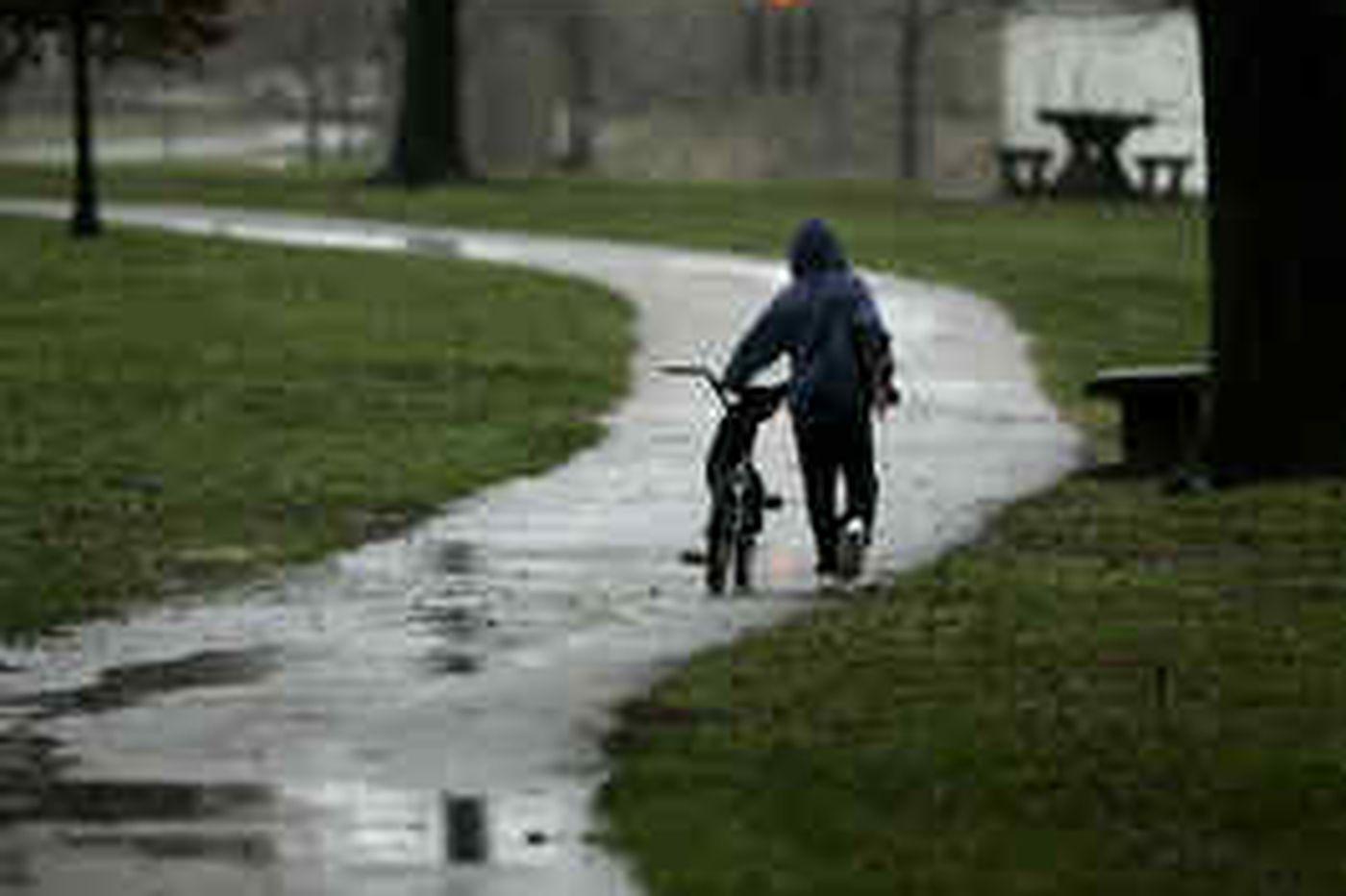 Rain, melting snow inundate Phila. area