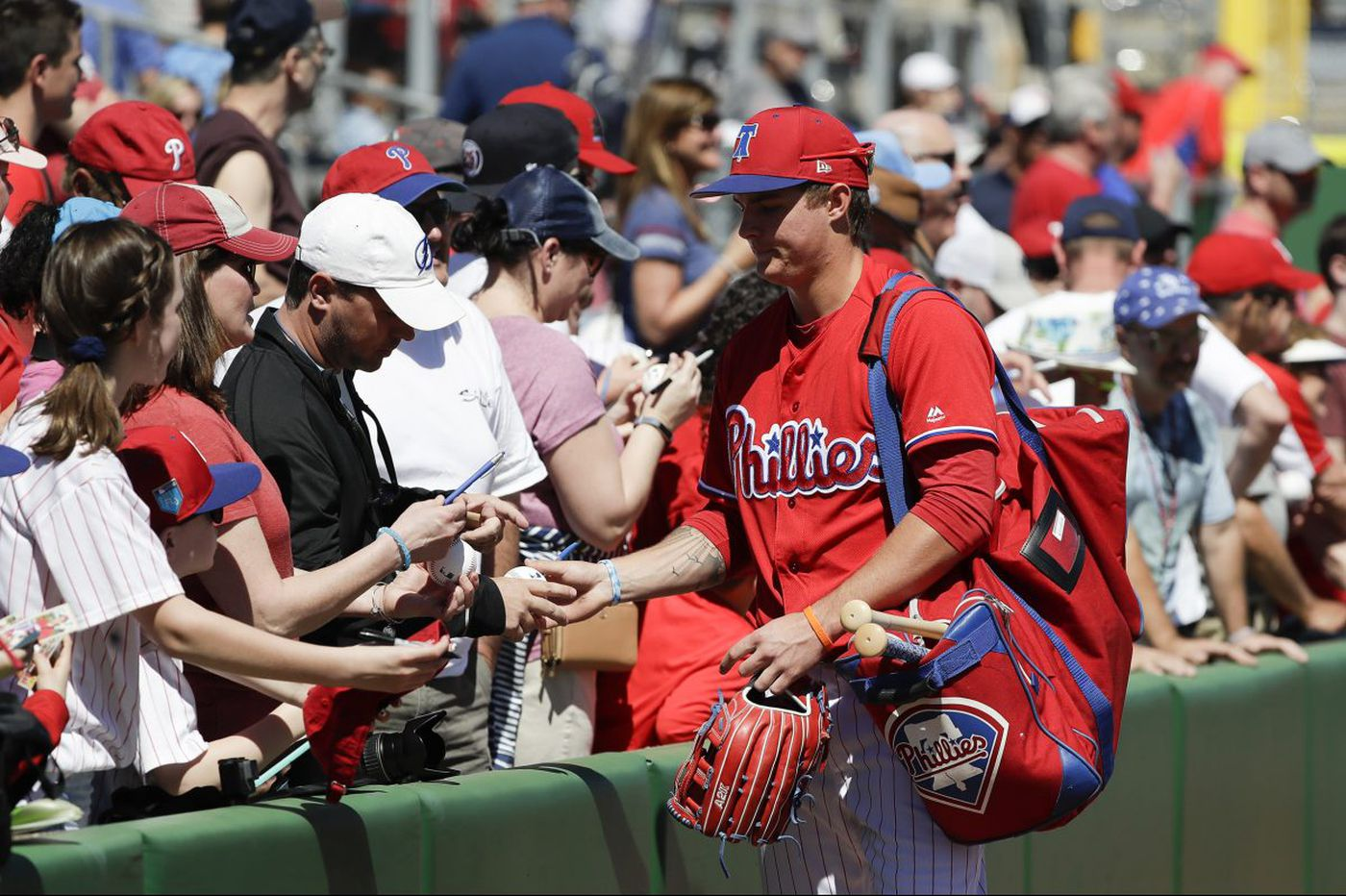 Phillies lose twice in one spring training day
