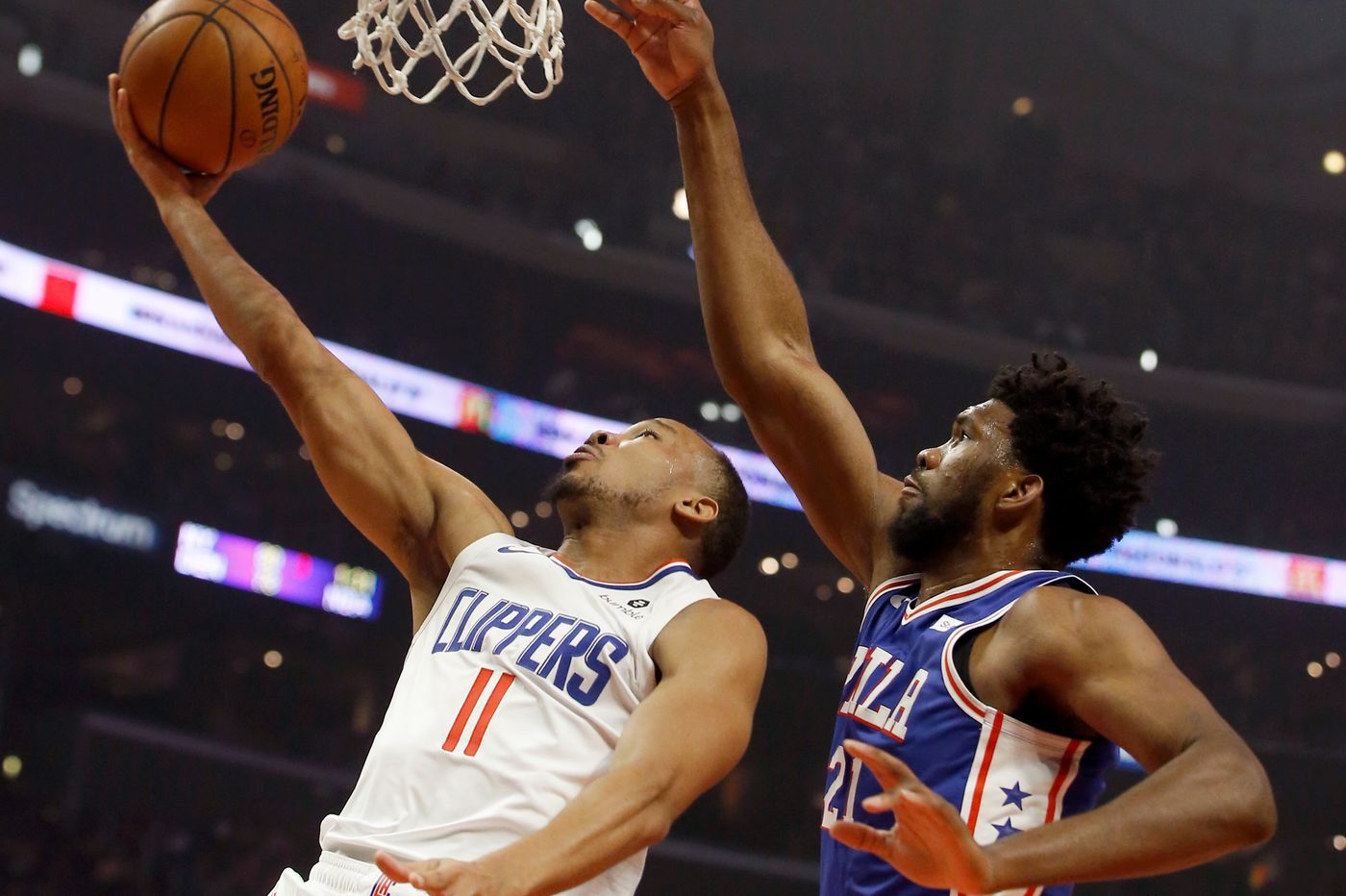 b4bec91ea156 Sixers hold on to beat Clippers as Joel Embiid finishes with 28 points