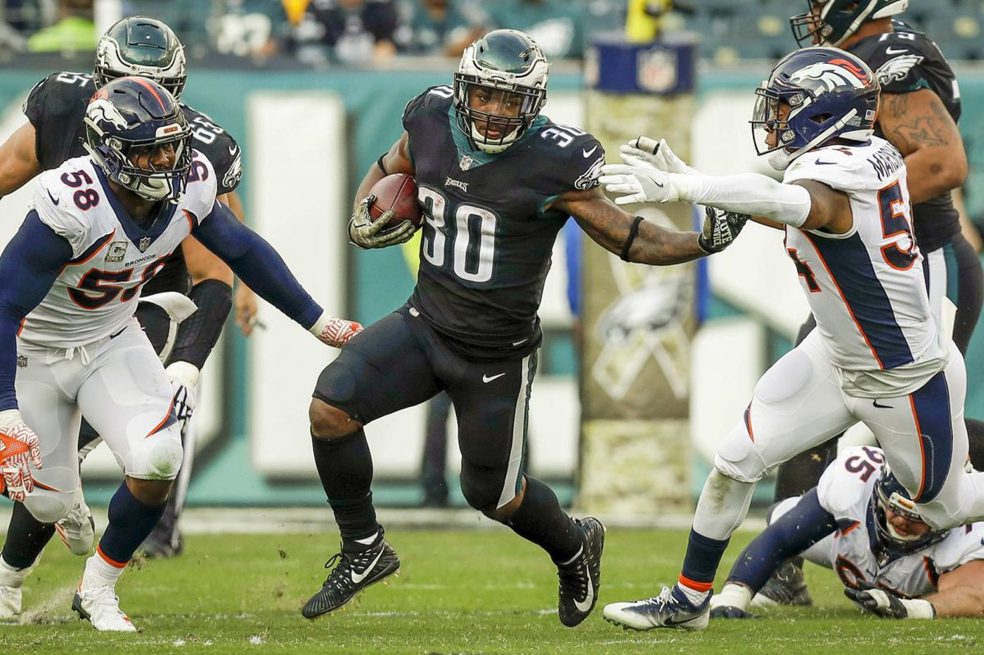 Corey Clement's three-TD day shows depth, potential of Eagles offense