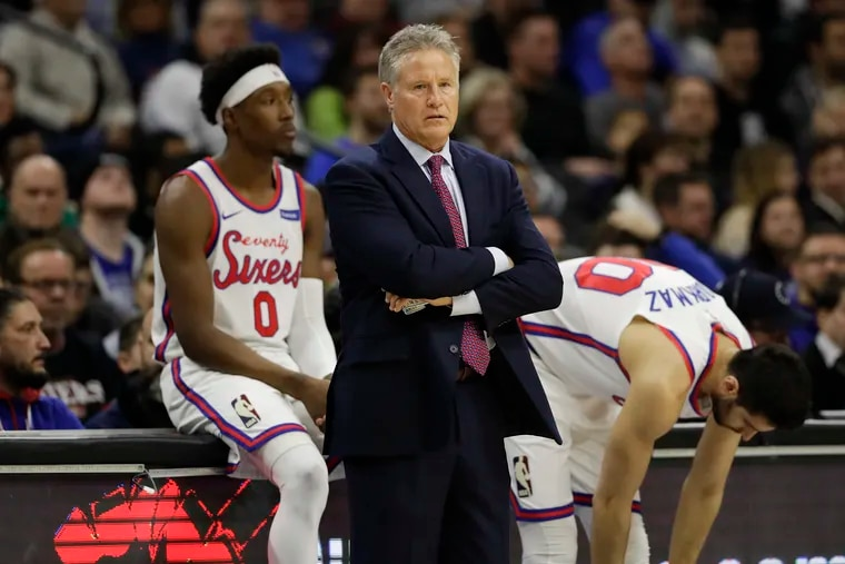 Head coach Brett Brown and the Sixers must find a way to overcome zone defenses.