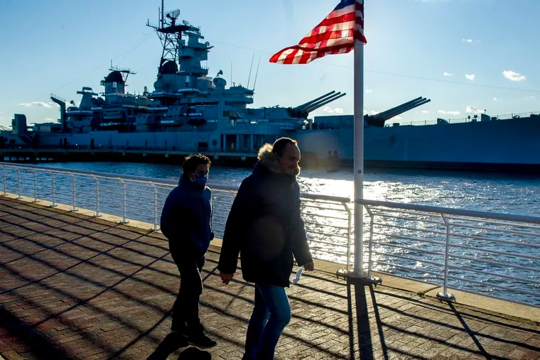 The Battleship New Jersey Dec. 6, 2020. It is commemorating Pearl Harbor Day with events on Monday, including the usual wreath tossing and gun salute, plus special tours.