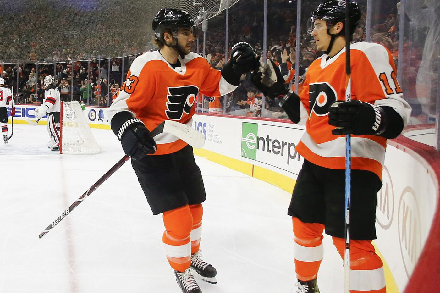 Flyers' hot start leads to win over Devils