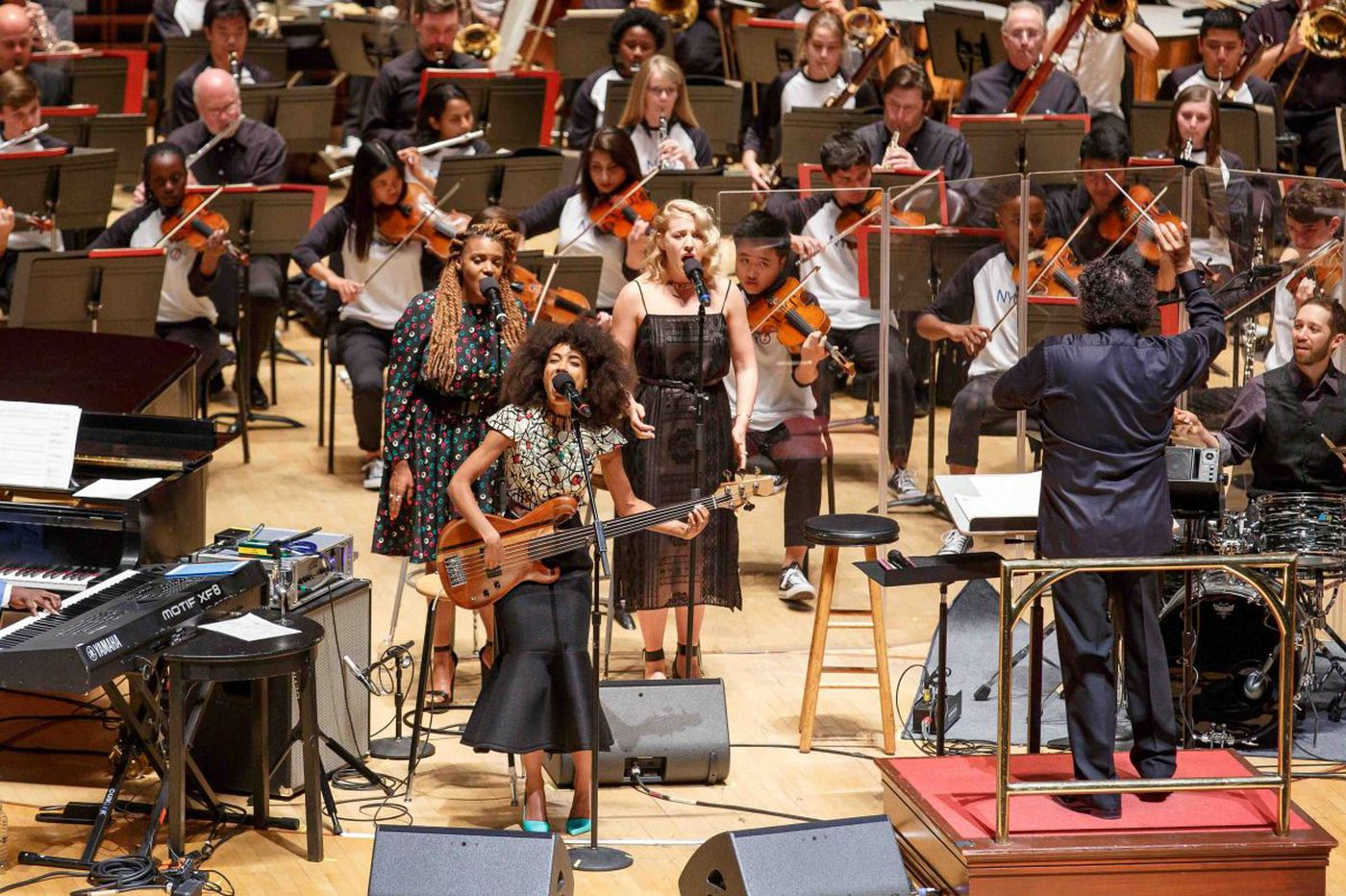 Esperanza Spalding brings her best diva brilliance to the Philadelphia Orchestra - and some great shoes
