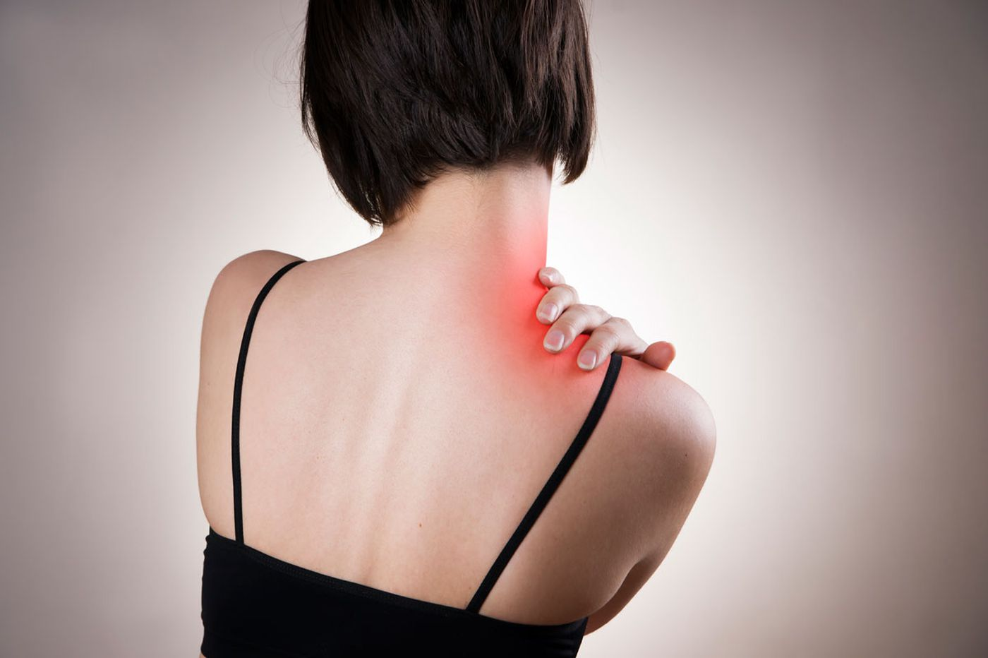 What caused pain in woman's shoulder?