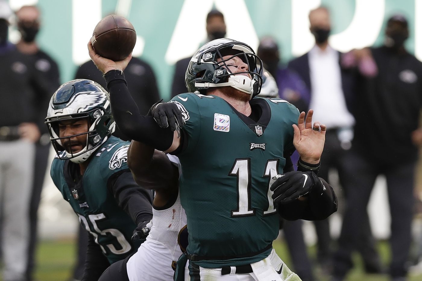 Reason for optimism (and pessimism) for Carson Wentz in the season's second half