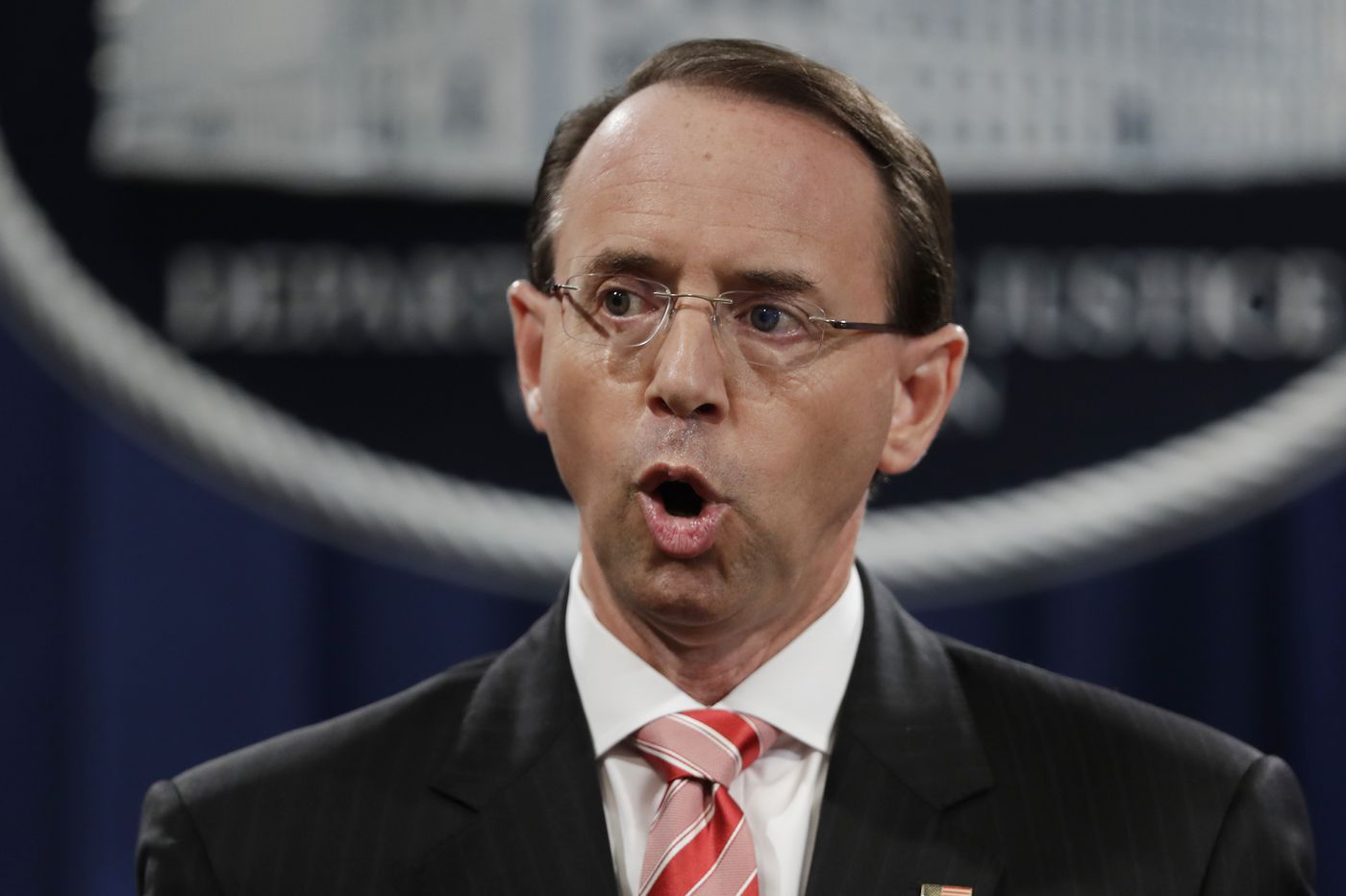 Rosenstein, a frequent Trump target, will leave Justice Dept