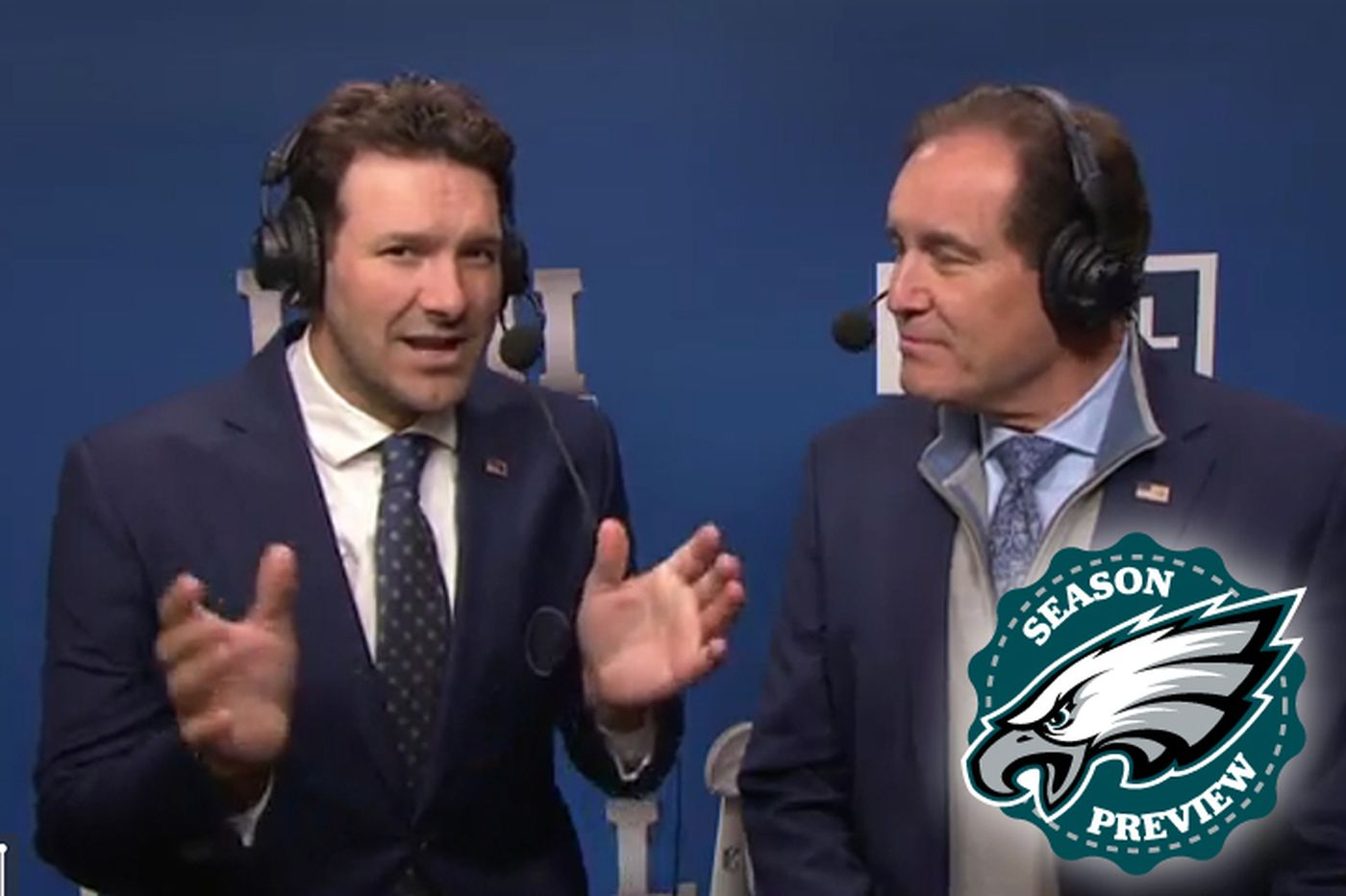Tony Romo on the Eagles, Carson Wentz, and whether he'll stay with CBS after the NFL season